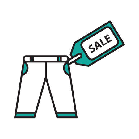 trouser: Trouser with sale tag