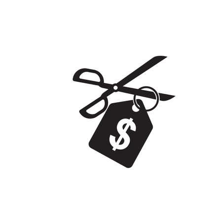 scissors cutting a dollar tag