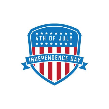 Bandeira do dia da independência dos EUA. Foto de archivo - 81486448