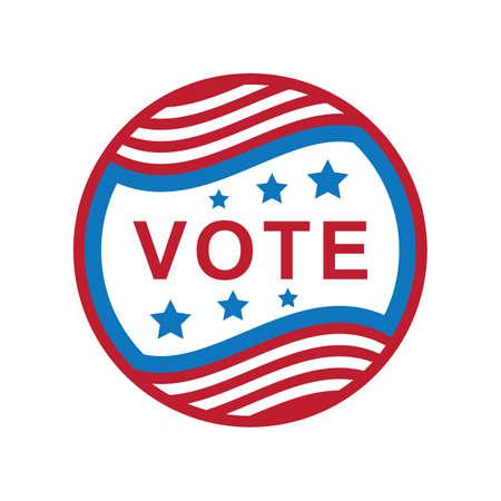 USA vote label illustration.