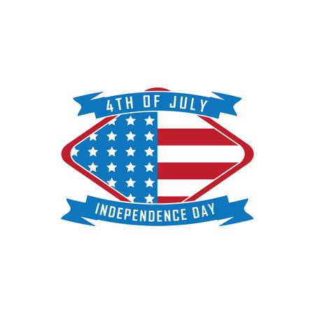 Bandeira do dia da independência dos EUA Foto de archivo - 81538836