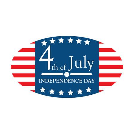 Etiqueta del día de la independencia de usa Foto de archivo - 81538839