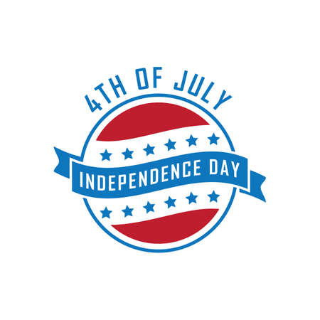 USA independence day banner illustration. 向量圖像