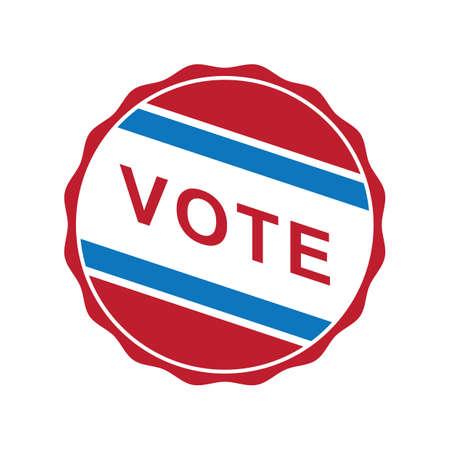 미국의 투표 라벨 스톡 콘텐츠 - 81486472