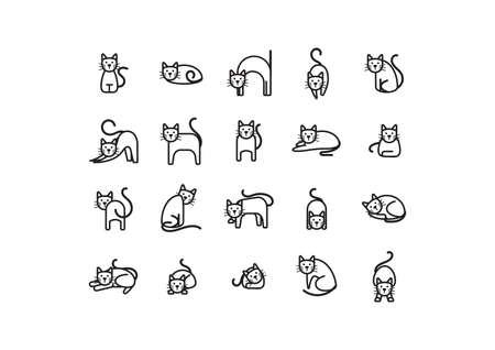 verzameling van kat pictogrammen