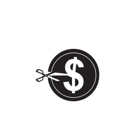 scissors cutting a dollar sign