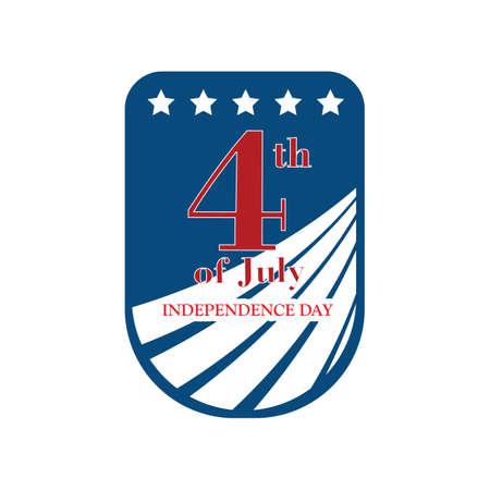 Etiqueta del día de la independencia de usa Foto de archivo - 81538845
