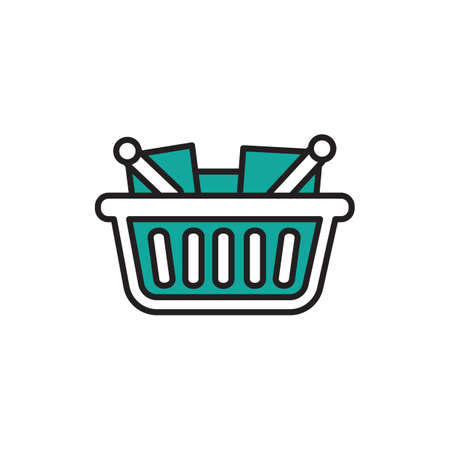 Shopping basket with items