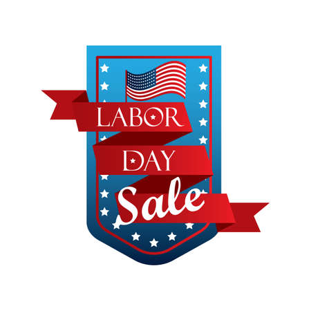 A labor day sale banner illustration. Çizim