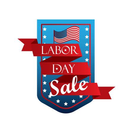 A labor day sale banner illustration. Illustration