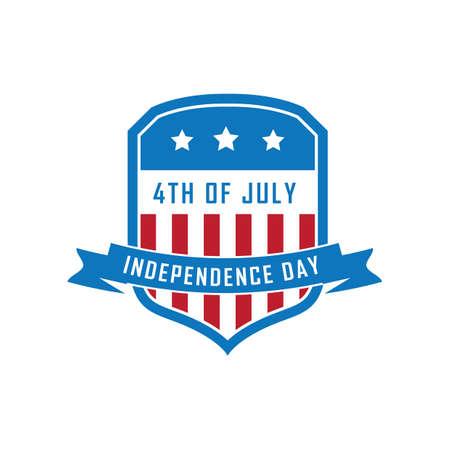 Bandera del día de la independencia de usa Foto de archivo - 81486497