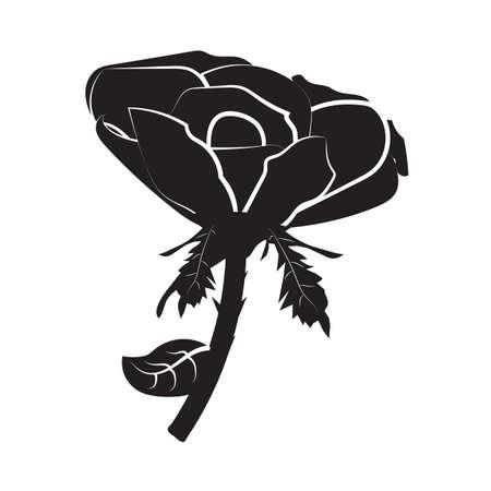 Rose-Symbol Standard-Bild - 81536295
