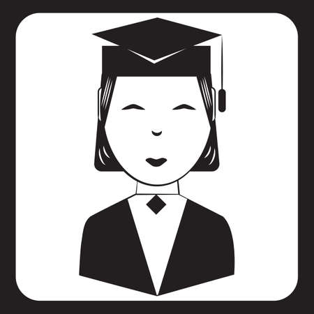 woman wearing graduation hat
