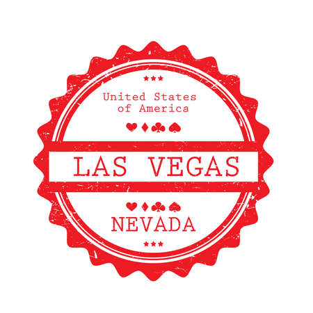 A Las Vegas label illustration.