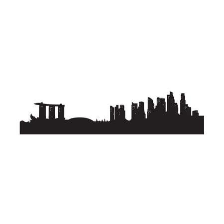 silhouet van een stedelijke stad Stock Illustratie
