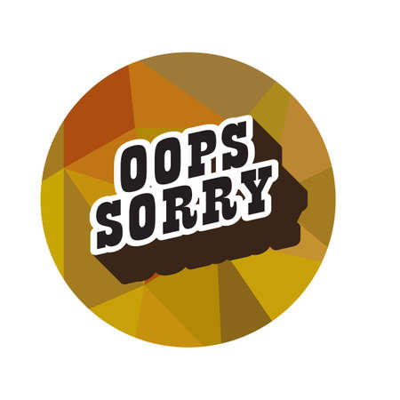 oops sorry 스톡 콘텐츠 - 106673445