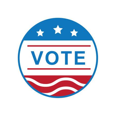 미국 투표 레이블 그림. 스톡 콘텐츠 - 81486535