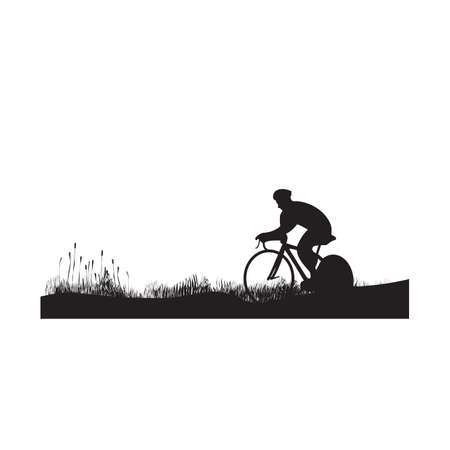 silhouette of a bicycle rider