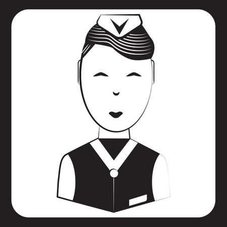 air steward Illustration
