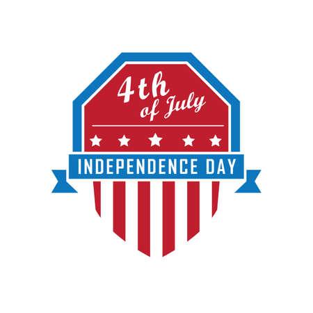 Ilustración de la bandera del día de la independencia de Estados Unidos. Foto de archivo - 81486568