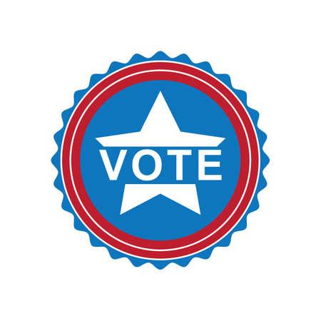 미국 투표 레이블 그림. 스톡 콘텐츠 - 81486567