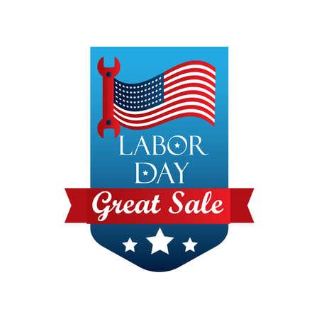 USA labor day banner illustration. Vector Illustration