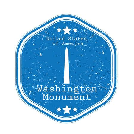 워싱턴 기념물 레이블 그림입니다.