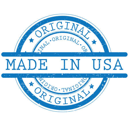 made in usa label Ilustrace