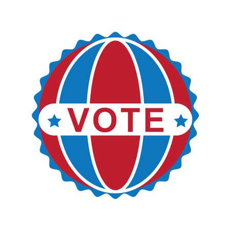 미국의 투표 라벨 스톡 콘텐츠 - 81486586