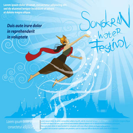 songkran water festive poster