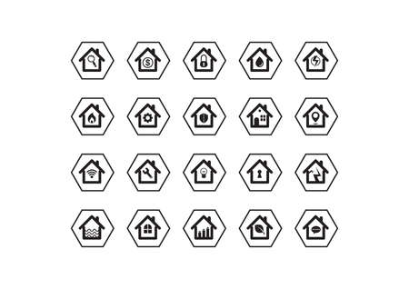 collection of house icons Stock Vector - 81536626