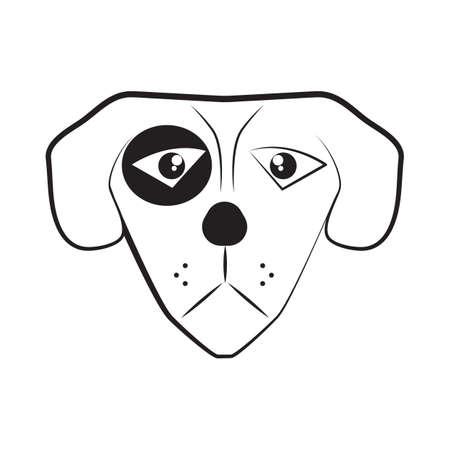 dog head Ilustrace
