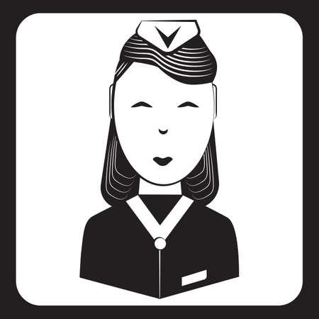 Air stewardess Ilustracja