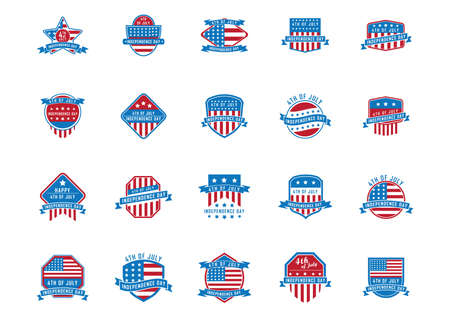 USA independence day banner collection illustration.