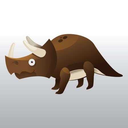 トリケラトプス  イラスト・ベクター素材