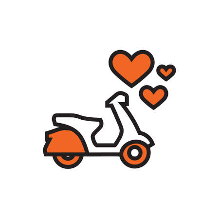 scooter icon with heart