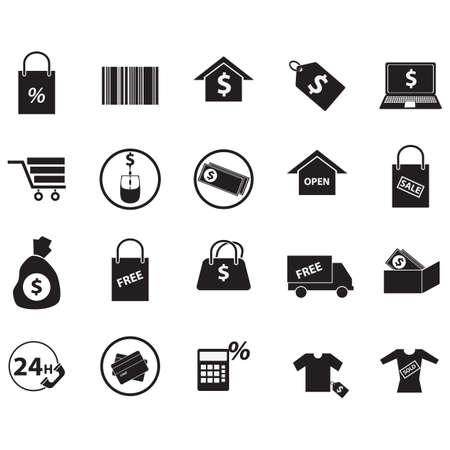 Set di icone dello shopping Archivio Fotografico - 81538868