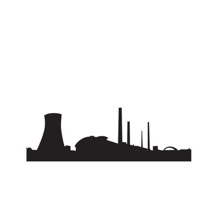 silhouette of nuclear factories