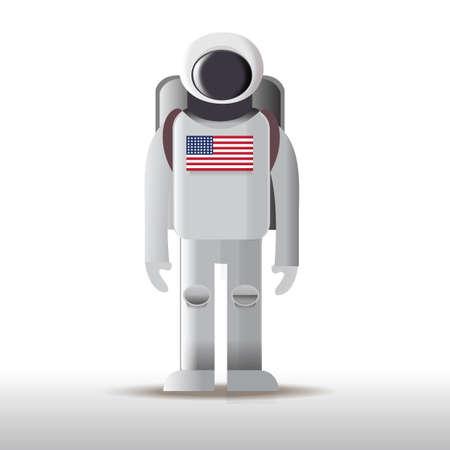 uniform of astronaut Illustration