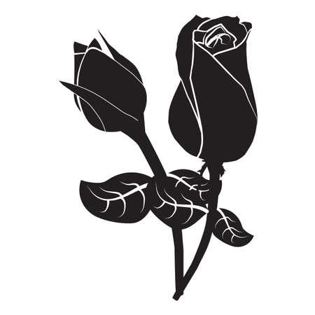 Rose-Symbol Standard-Bild - 81536310