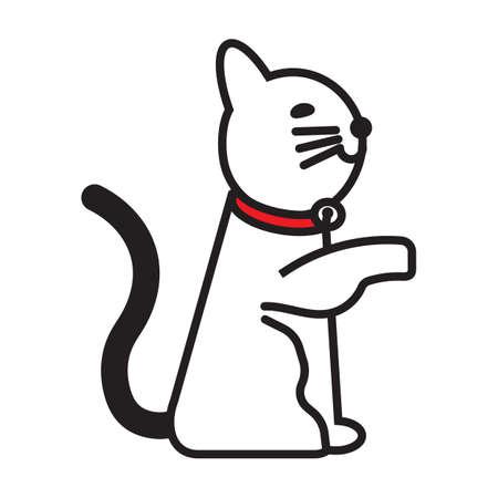 cat showing paw Иллюстрация