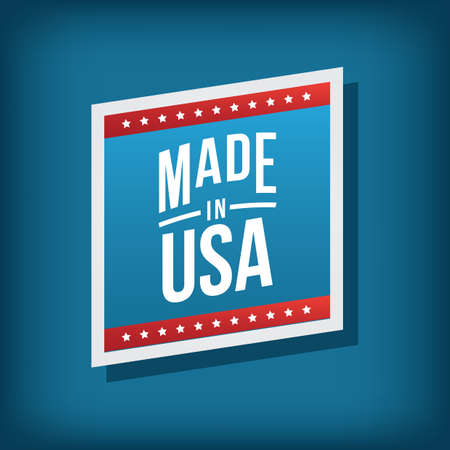 made in usa label Stock Vector - 81486633