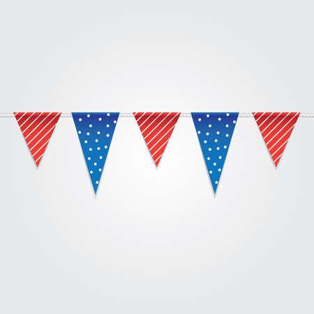 usa bunting flags Illusztráció
