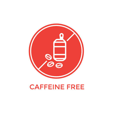 caffeine free label Иллюстрация