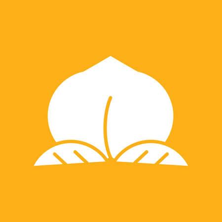Peach-pictogram Stock Illustratie