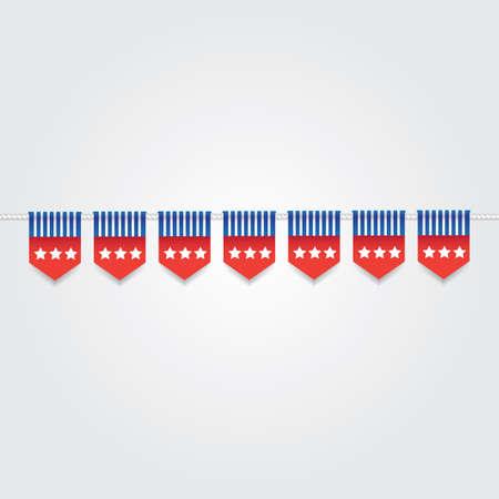 USA bunting flags illustration. Иллюстрация