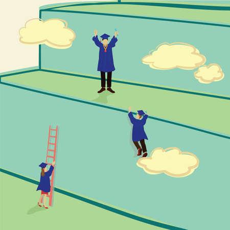 A success concept illustration.