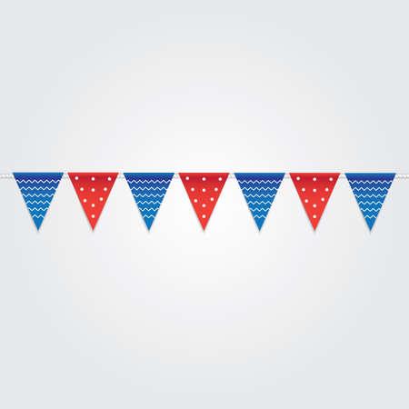 USA bunting flags illustration. Ilustração