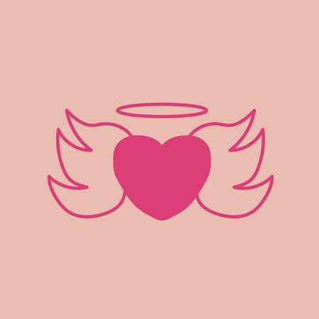 heart shape angel