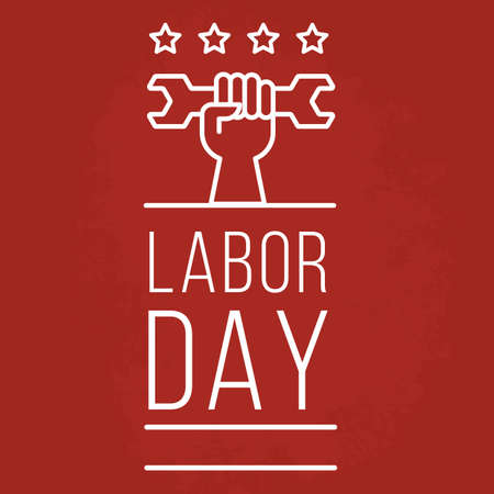 A labor day poster illustration.
